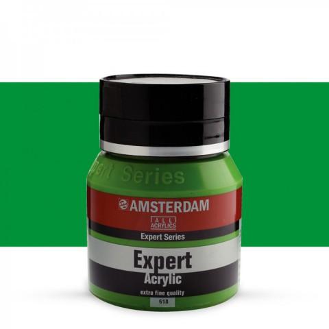 AMSTERDAM ALL ACRYLIC EXPERT SERİSİ 400 ML  AKRİLİK BOYA - PERMANENT GREEN LIGHT