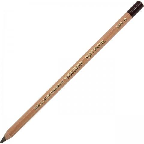 Artist´S Pencil With Dry Pastel 8820/43 Van Dyck Brown
