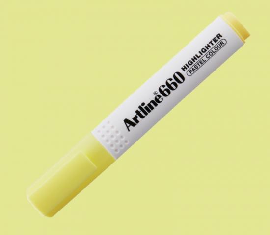 Artline 660 Fosforlu Kalem Pastel Sarı