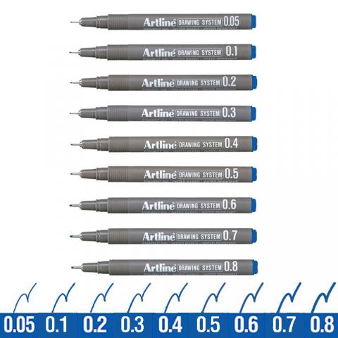 Artline Drawing System Teknik Çizim Kalemi MAVİ