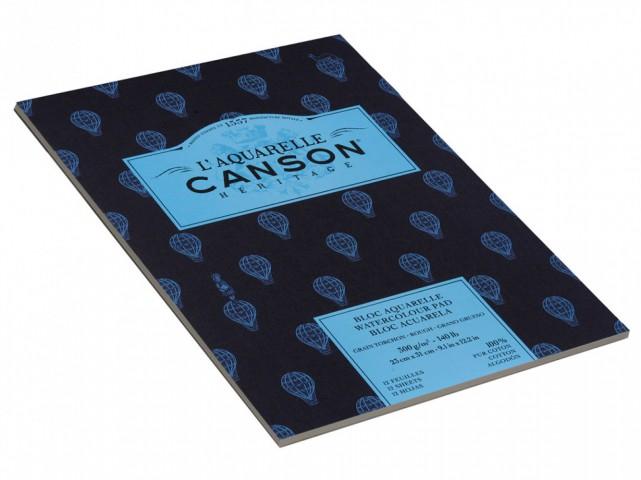 Canson L'Aquarelle Heritage Suluboya Blok 300Gr. 23x31cm Kalın D.