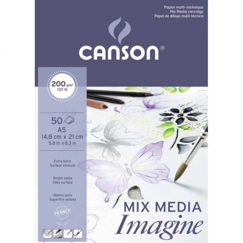 Canson Mix Media İmagine - A5 - 200gr - 50yp