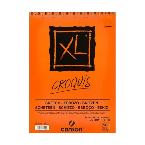 Canson Xl Croquis Spiralli Eskiz Defteri A4 90gr 50 Yaprak