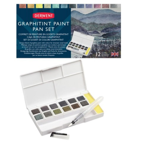 Derwent Graphitint Paint Pan Set 12 Li