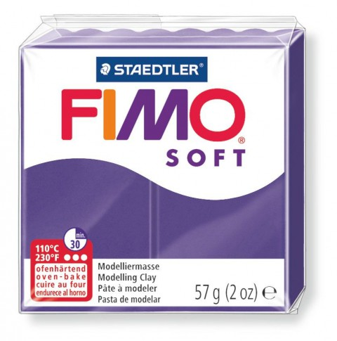 FIMO POLYMER CLAY 57GR PLUM