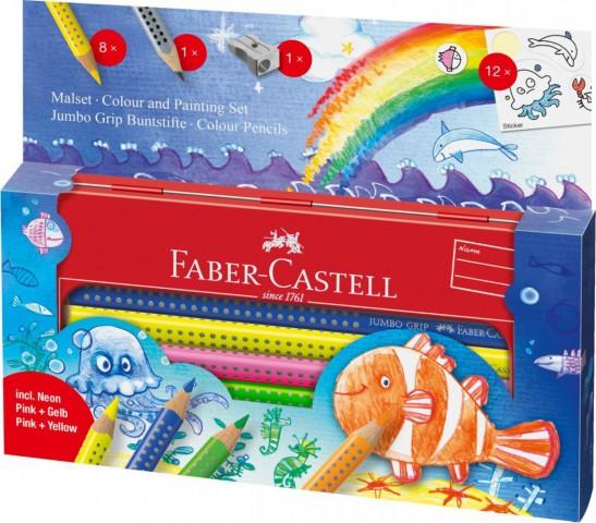 Faber Castell Boya Kalemi Metal Hediye Seti 8 Renk Parça