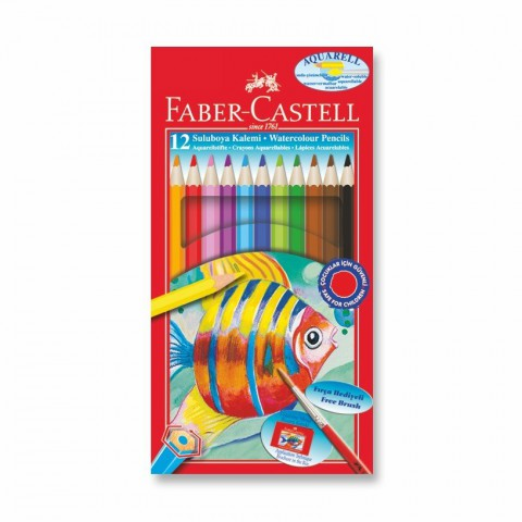 Faber-Castell Karton Kutu Aquarel Boya Kalemi 12 Renk