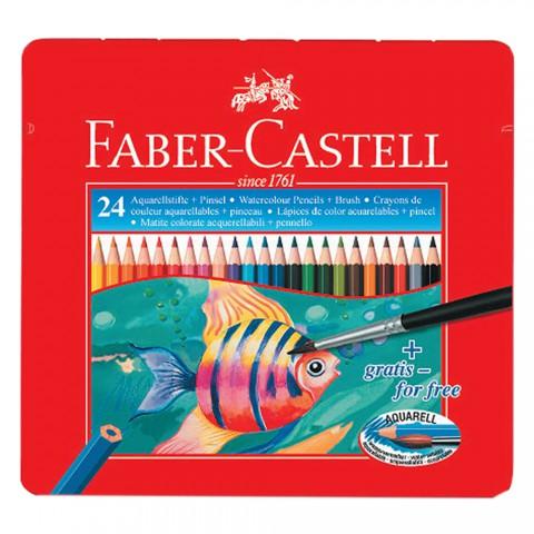 Faber-Castell Metal Kutu Aquarel Boya Kalemi 24 Renk