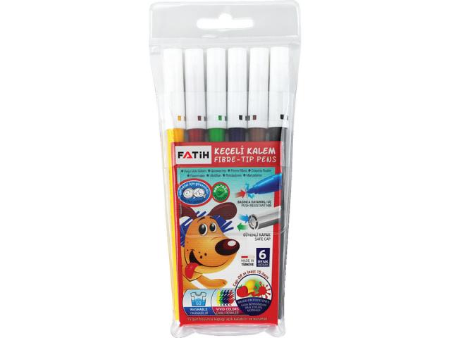 Fatih Keçeli Boya Kalemi 6 Renk