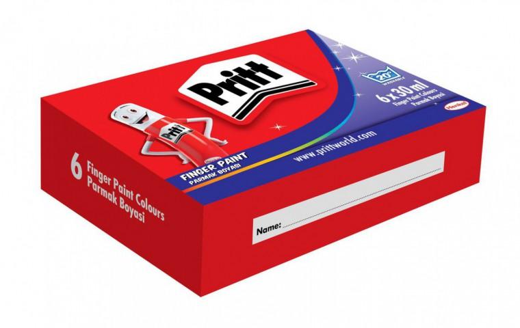 Pritt---Parmak Boyası - 6 Renk - 30ml
