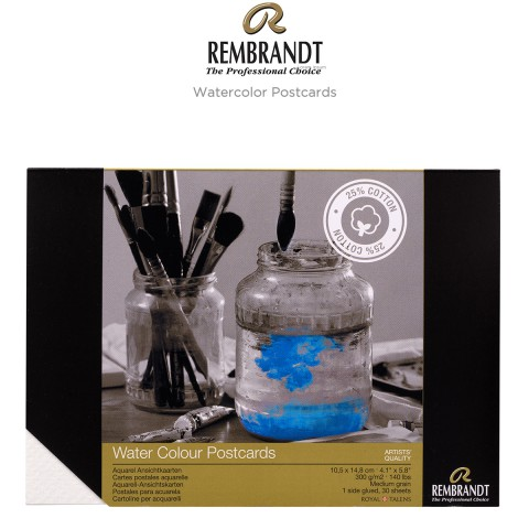 Rembrandt Water Colour Postcard 10,5x14,8 Cm Sulu Boya Defteri