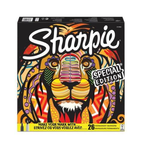 Sharpie Fine Permanent markör 26'lı Karışık kutu- Aslan