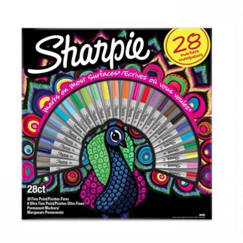 Sharpie Fine Permanent markör 28li kutu-T.kuşu