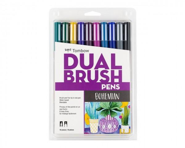 Tombow Dual Brush Pen Bohemian Colour Set 10 Renk
