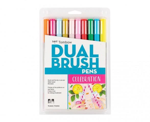 Tombow Dual Brush Pen Celebration Colour Set 10 Renk