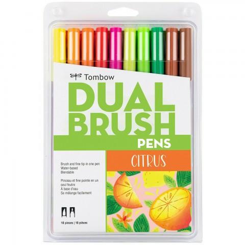 Tombow Dual Brush Pen Citrus Colour Set 10 Renk