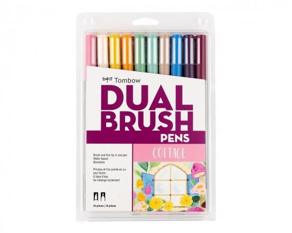 Tombow Dual Brush Pen Cottage Colour Set 10 Renk