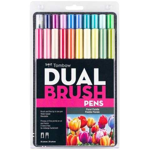 Tombow Dual Brush Pen Floral Colour Set 20 Renk