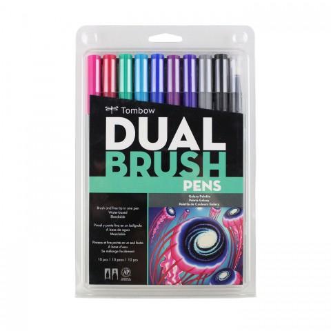 Tombow Dual Brush Pen Galaxy Colour Set 10 Renk
