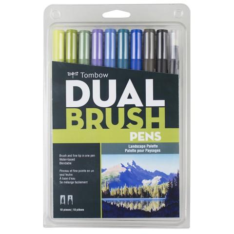 Tombow Dual Brush Pen Landscape Colour Set 10 Renk