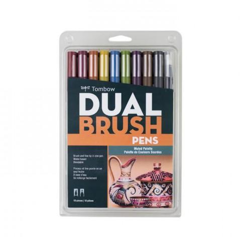 Tombow Dual Brush Pen Muted Colour Set 10 Renk