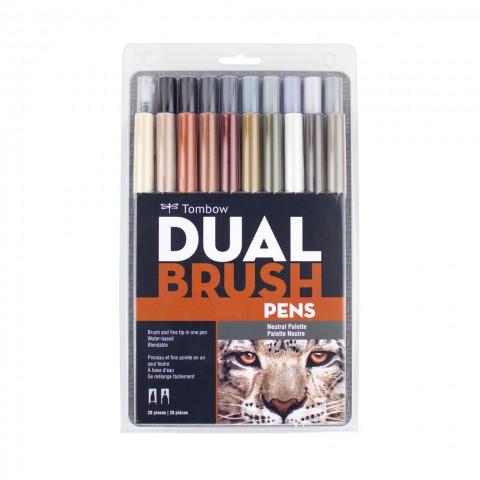 Tombow Dual Brush Pen Neutral Colour Set 20 Renk