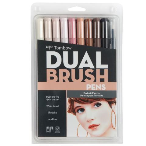 Tombow Dual Brush Pen Portrait Colour Set 10 Renk