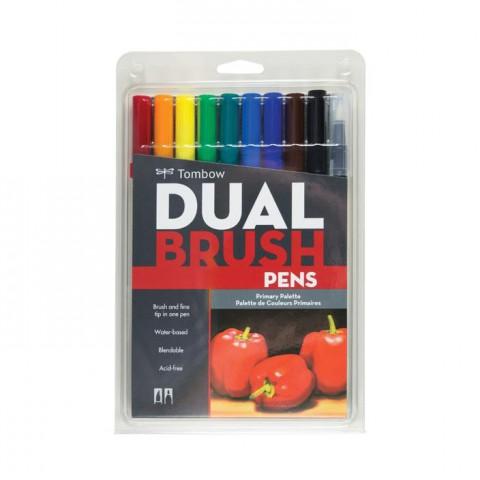 Tombow Dual Brush Pen Prımary Colour Set 10 Renk