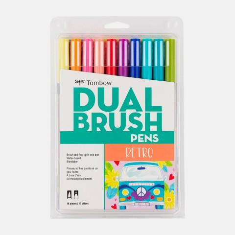 Tombow Dual Brush Pen Retro Colour Set 10 Renk