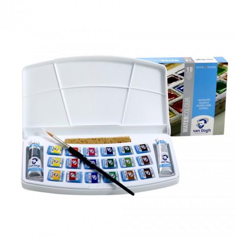Van Gogh Suluboya Tablet Set 18 Li (Plastik Kutu)