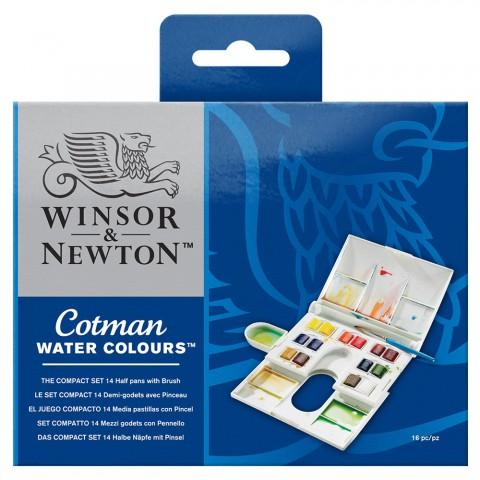 WİNSOR NEWTON  Cotman Kompakt Set (14 renk)
