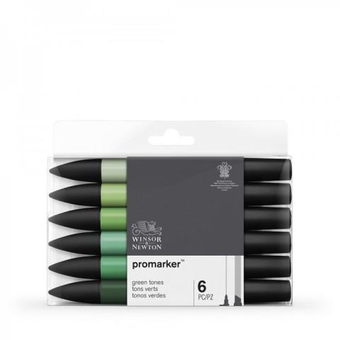 Winsor & Newton Promarker Grafik Kalemi 6 LI Green Tones