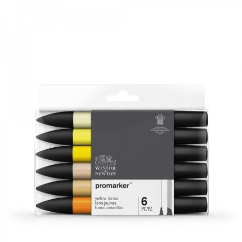 Winsor & Newton Promarker Grafik Kalemi 6 LI Yellow Tones