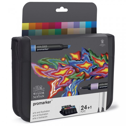 Winsor & Newton Promarker Grafik Kalemi Arts And İllustratıon 24 Renk Çantalı
