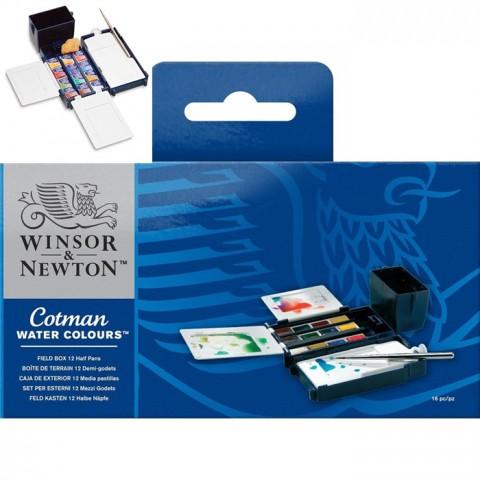 Winsor&Newton Cotman Sulu Boya Fıeld Box (Kır Tipi)